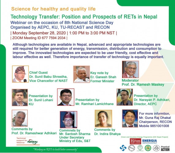Technology Transfer: Position and Prospects of RETs in Nepal